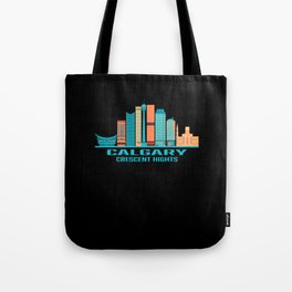 Calgary Crescent Hights Canada Skyline Tote Bag