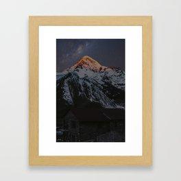 Caucasus Mountain Framed Art Print