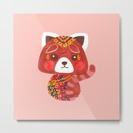 Jessica The Cute Red Panda Metal Print