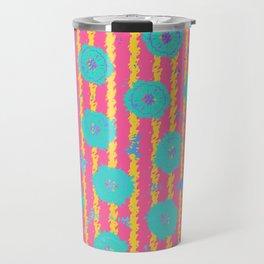 "abstract flower print#2 ""Floral Waves"" Travel Mug"