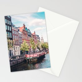 Colorful Amsterdam Canals | Europe Travel City Urban Landscape Photography Stationery Cards