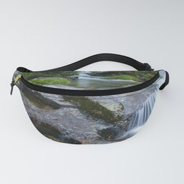 Waterfalls in wild forest Fanny Pack