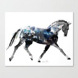 Horse (Trotting Elegance) Canvas Print