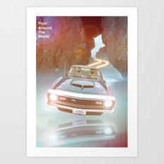 Flyin' Car II Art Print