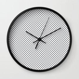 Sharkskin Polka Dots Wall Clock