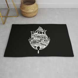 Lab No. 4 Chances Will Burn Very Briefly Stephen R. Covey Motivational Quotes Rug