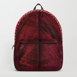 Traces of the Magpie on copper and dark rose Backpack