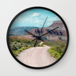 Dirt Road Home (La Verkin, Utah) Wall Clock
