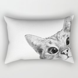 sneaky cat Rectangular Pillow