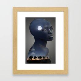 Journey On My Skin Framed Art Print