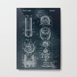 1965 - Pepper mill patent art Metal Print