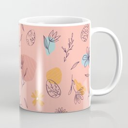 Spring Easter Egg Hunting Flower Leaves Colorful Gift Coffee Mug