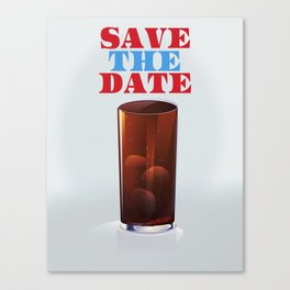Save the date vintage soda ad. Canvas Print