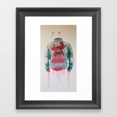 dont fuck wtf Framed Art Print