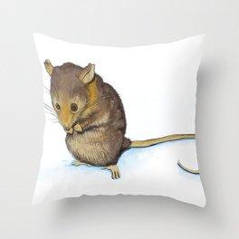 Mountain Pygmy-possum (Burramys parvus) Australian Native Throw Pillow