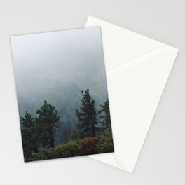 Foggy Trees in Emerald Bay Stationery Cards