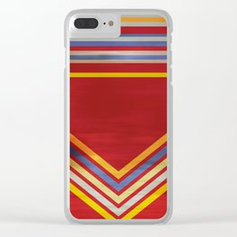 Stripes and Chevrons Ethic Pattern Clear iPhone Case