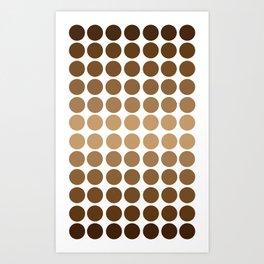 Monochrome Brown Circles Art Print