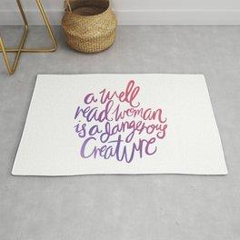 Well Read Woman - Girl Nerd Quote - Gradient Rug