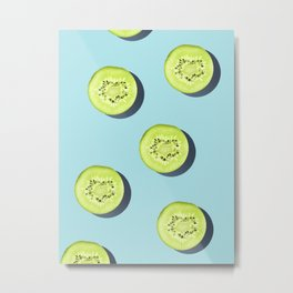 Kiwi Pattern #society6 Metal Print