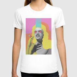 Playmate Jayne, POP art style, digitally painted T-shirt