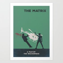 The Matrix Minimalist Poster- Dodge This Art Print