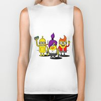 minions Biker Tanks featuring Despicable Minions and Futurama Mashup by TapedApe