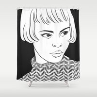 chic Shower Curtains featuring Chic Lady by Cannibal Malabar