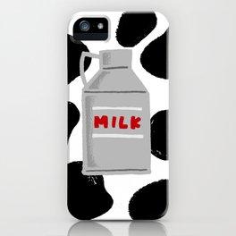caw milk cute pattern iPhone Case