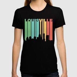Retro 1970's Style Louisville Kentucky Skyline T-shirt