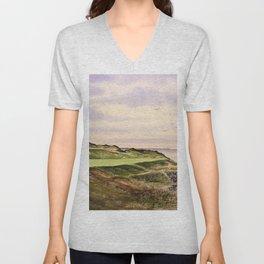 Whistling Straits Golf Course Hole 7 Unisex V-Neck