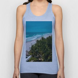 Waves and Palms Unisex Tank Top