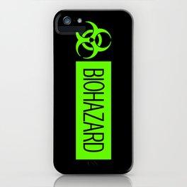 HAZMAT: Biohazard (Slime Green & Black) iPhone Case