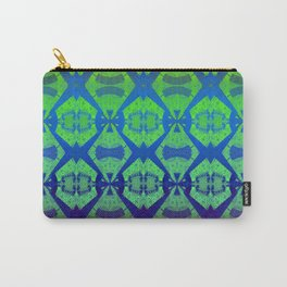 African Vintage Fabric Green Tone Gradient Carry-All Pouch