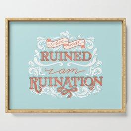 Grishaverse Quote Ruination Blue Orange Serving Tray