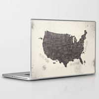 usa Laptop & iPad Skins featuring USA by Mike Koubou