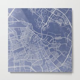 Know Where You Are: Amsterdam Metal Print