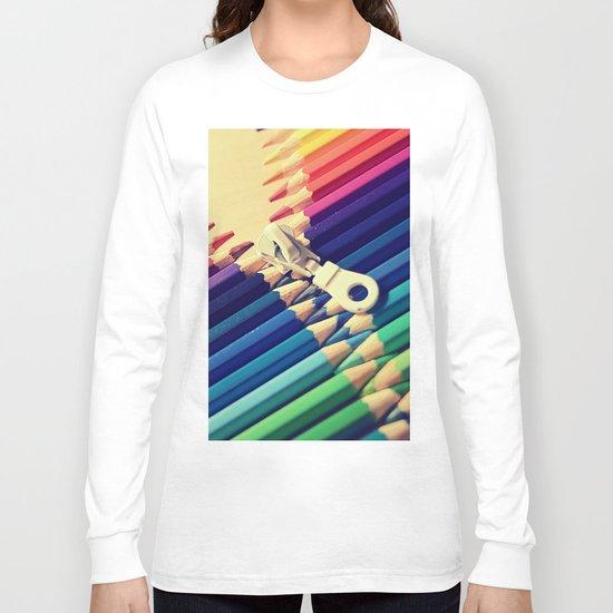 Crayon Zip Long Sleeve T-shirt