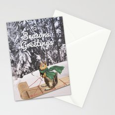 Sleigh Ride Through The Snow Stationery Cards