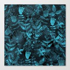 Watercolor Floral & Birds IV Canvas Print