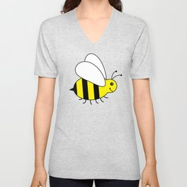 Bumble Bee Pattern Unisex V-Neck