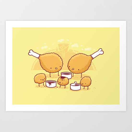 Chicken Farm Art Print