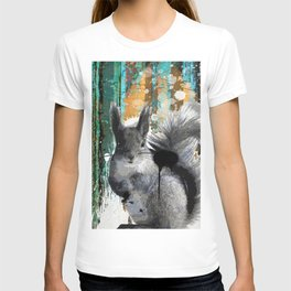 Cheeky Industrious Squirrel  T-shirt