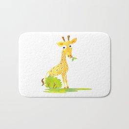 Baby Animal Watercolor Giraffe Adorable Nursery Bath Mat
