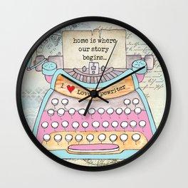 Typewriter #6 Wall Clock