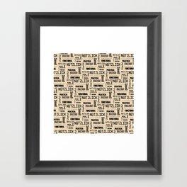 Nutzlich Pattern Framed Art Print