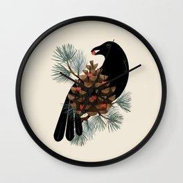 Bird & Berries Wall Clock