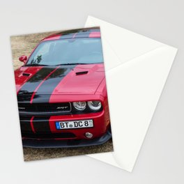 Red Challenger RT Hemi at the 5th US-Carshow, Germany color photograph / photography / poster Stationery Cards