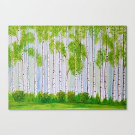 Birch forest Canvas Print