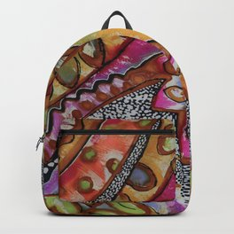 African Abstract in Spice Colors Backpack